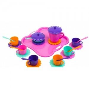 Набор игрушечной посуды Ромашка с подносом 26 элементов (39093)