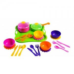 Набор игрушечной посуды столовый Ромашка 25 элементов (39148)