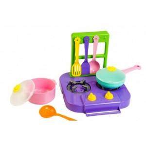 Набор игрушечной посуды столовый Ромашка с плитой 7 элементов (39150)