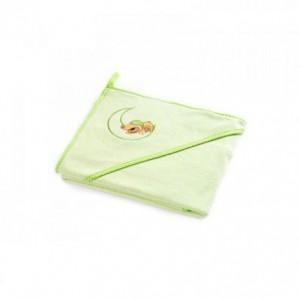 Полотенце Sensillo с вышивкой Teddy Bear 100х100 - green