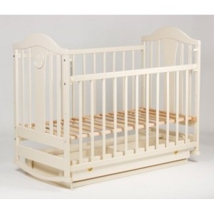 Кроватка Laska-M Наполеон NEW с ящ. (ваниль)