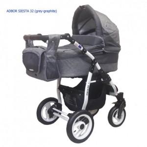 Коляска 2в1 ADBOR SIESTA 32 (grey-graphite)