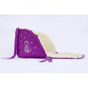 Матрасик в санки открытый (овечья шерсть) Baby Breeze (lilac)