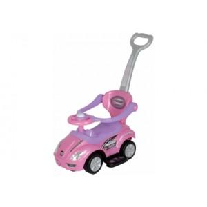 Машинка-каталка с толкателем Alexis-Babymix Z-381 (pink)