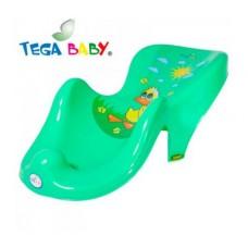 Горка д/купания Tega пластик. Balbinka TG-014 green