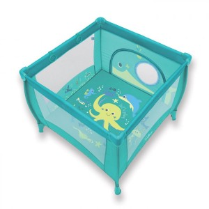 Манеж Baby Design Play Up 05 turquoise (с кольцами)