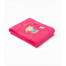 Плед Sensillo 2-STR с вышивкой Kids 75*100 S-23061 raspberry