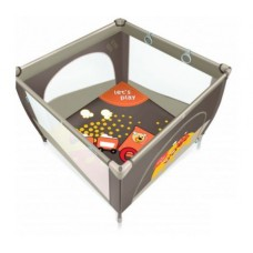 Манеж Baby Design Play Up 01 orange (с кольцами)