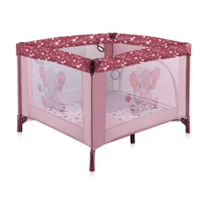 Манеж Bertoni PLAY STATION (pink elephant)