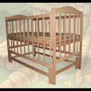 Кроватка Sofia Eco S-4 (120*60, 3 ур-ня, откидн. бок., маятник, без лака)
