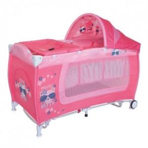 Манеж Bertoni DANNY 2L ROCKER (pink kitty)