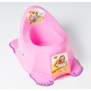 Горшок антискольз., муз. Tega Safari PO-045 pink