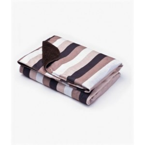 Плед Sensillo 2-STR велюр Stripes 75*100 S-23023 brown