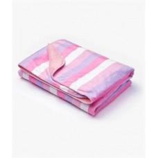 Плед Sensillo 2-STR велюр Stripes 75*100 S-23030 pink