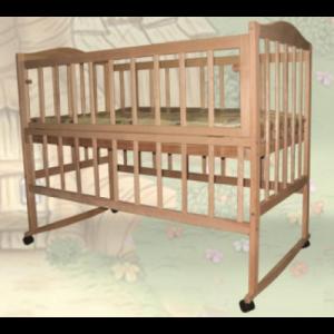 Кроватка Sofia Eco S-3/БК (120*60, 3 ур-ня, БЕЗ колес, откидн. бок., без лака)