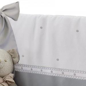 Постельный ком-т 2 эл. (полузащита + одеяло) Uzturre белый с точками 81PB-BOPI GR