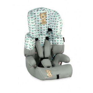 Автокресло Bertoni JUNIOR (9-36кг) (grey&green cute bear)
