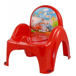 Горшок-кресло муз. Tega Cars PO-053 red