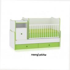 Кроватка-трансформер Bertoni TREND PLUS NEW (white/green)