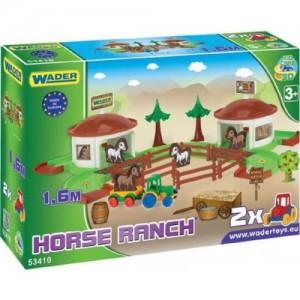 """Игровой набор Wader """"Ранчо с дорогой 1,6 м Kid Cars 3D"""" (53410)"""
