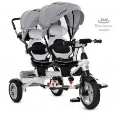 Велосипед детский трехколесный для двойни (M 3116TWA-19)