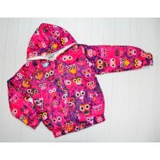 Курточка Совы Розовая 2,3,4,5 лет(2227)