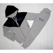 Спортивный костюм серый на рост 128 см, 140 см, 152 см, 164 см, 176 см (003481)