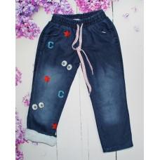 Утепленные джинсы на девочку на 5-8 лет (004742)