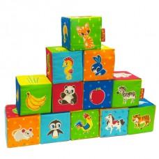 Набір кубиків Тваринки (12шт) (MC 090601-04)