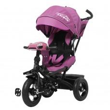 Велосипед трехколесный TILLY CAYMAN T-381 Фиолетовый с усиленной рамой и пультом/1/