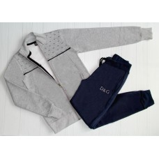 Утепленный костюм D&G серый 6, 8, 10, 12, 14 лет (3605)
