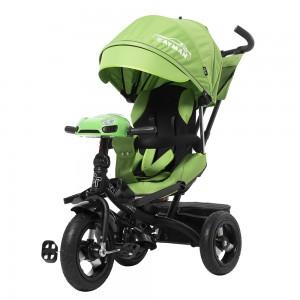 Велосипед трехколесный TILLY CAYMAN T-381 Зеленый с усиленной рамой и пультом/1/