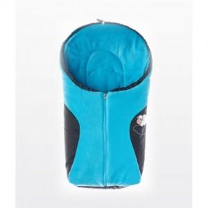 Конверт Sensillo Polar 75x36 - black/turquoise