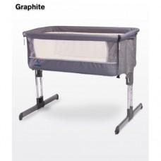 Кроватка Caretero Sleep2gether (graphite)